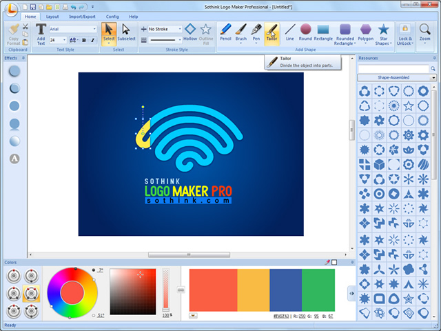 Click to view Sothink Logo Maker Professional screenshots