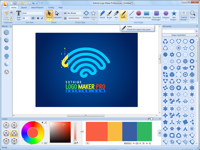Graphic design software helps you make original graphics Vector image software