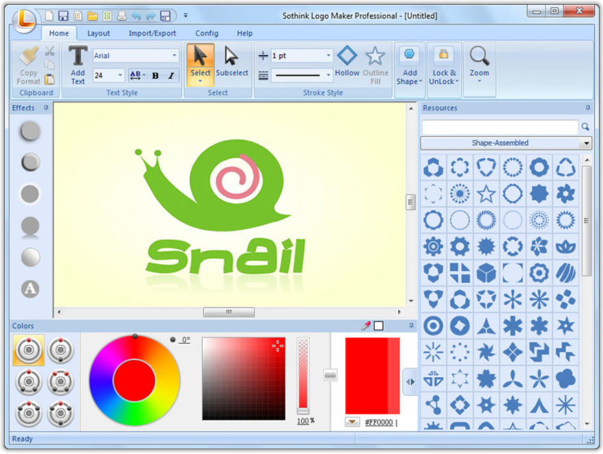 use text to shape for text based logo sothink logo maker pro