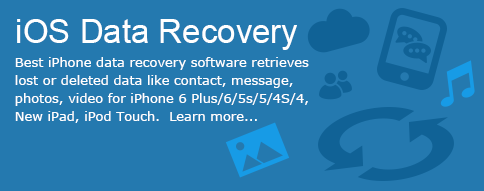 Best iPhone data recovery software retrieves lost or deleted data like contact, message, photos, video for iPhone 6 Plus/6/5s/5/4S/4, New iPad, iPod Touch.