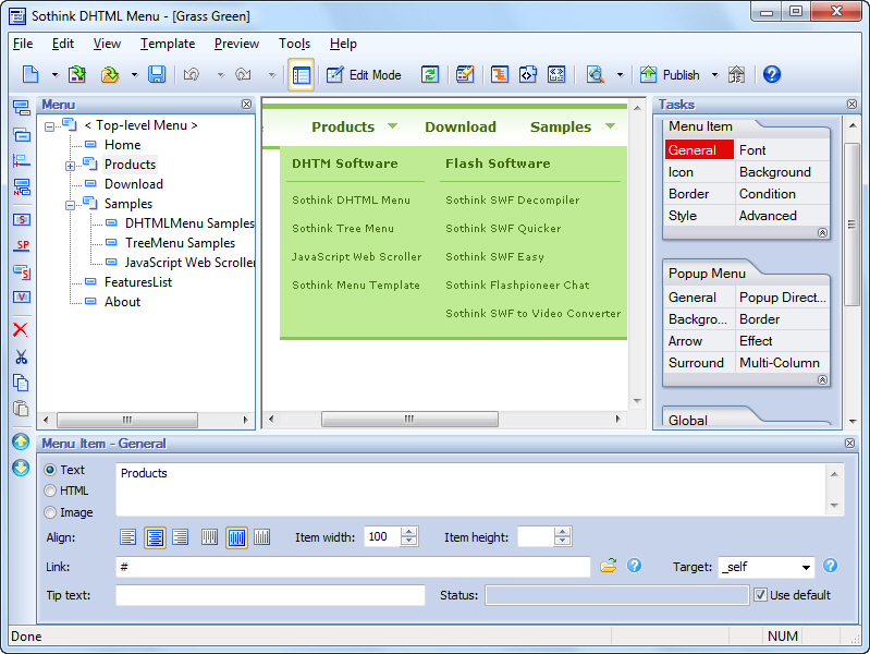 Click to view Sothink DHTML Menu screenshots