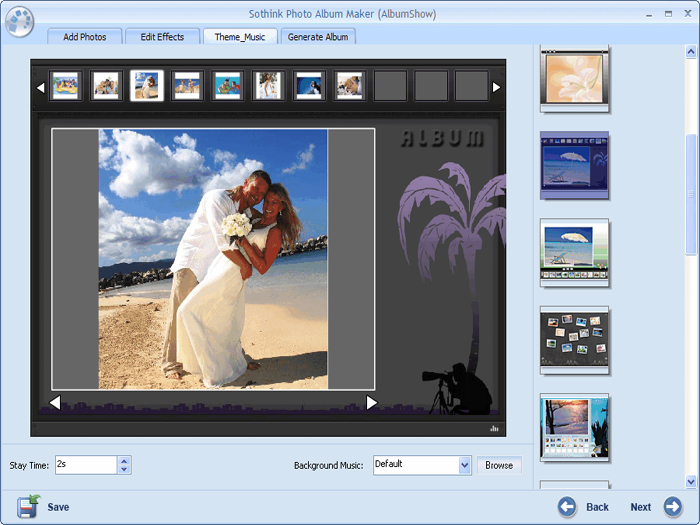 Photo Album Maker Interface