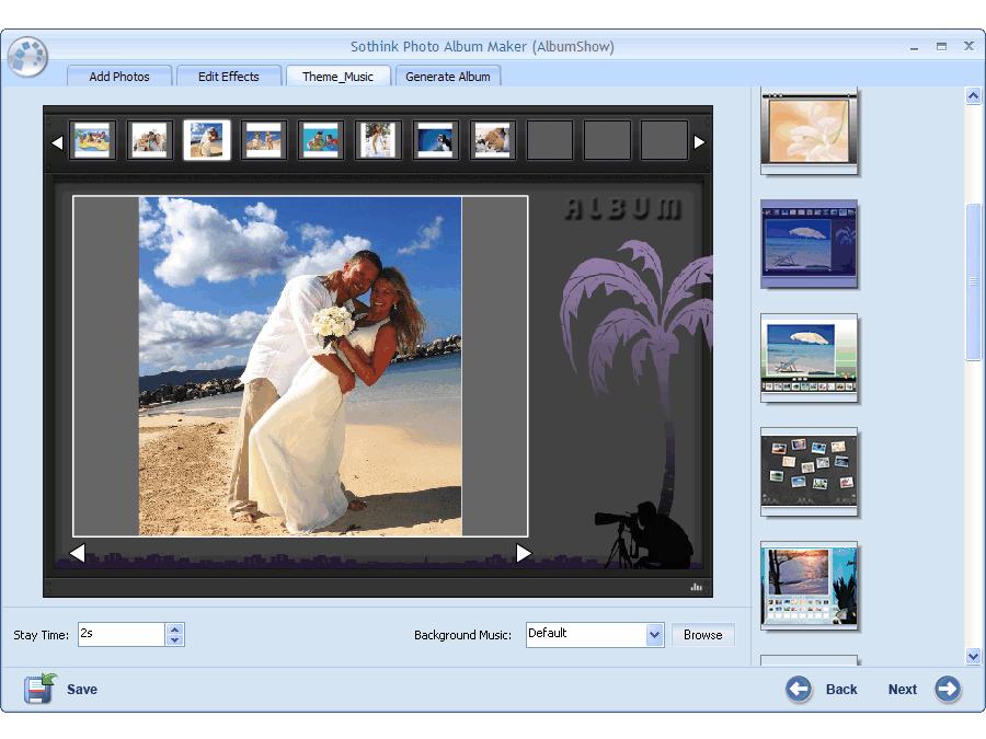 Sothink Photo Album Maker Screen shot