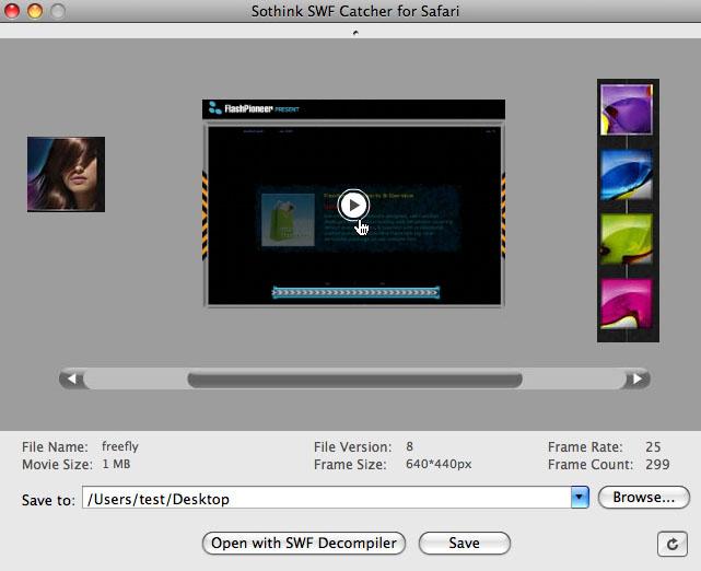 SWF download Mac with Safari Flash Download program - Sothink Free