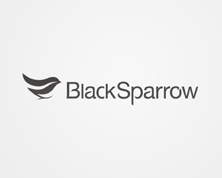 Vector Logo Design - Balck Sparrow