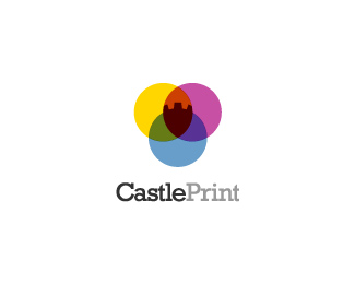 Vector Logo Design - Castle Print