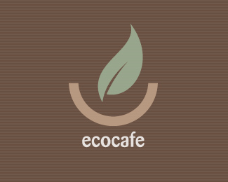 Vector Logo Design - Eco Cafe