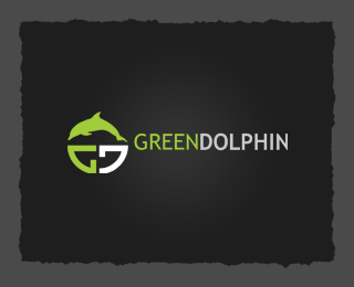Vector Logo Design - Green Dolphin