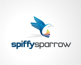 Vector Logo Design - Spiffy Sparrow