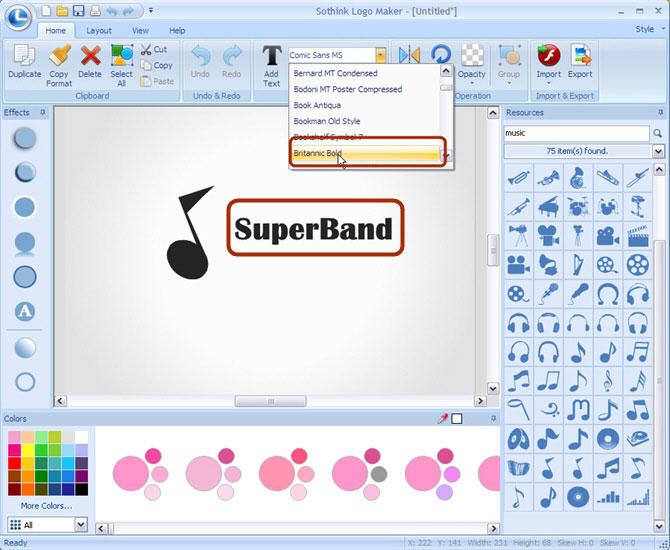 Free band logo design generator