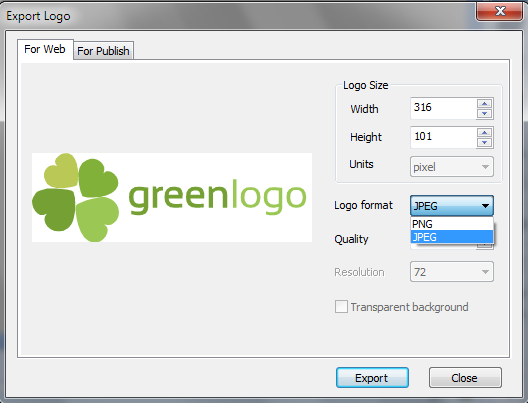How to Export Your Logo to Different Formats (PNG, BMP, JPG