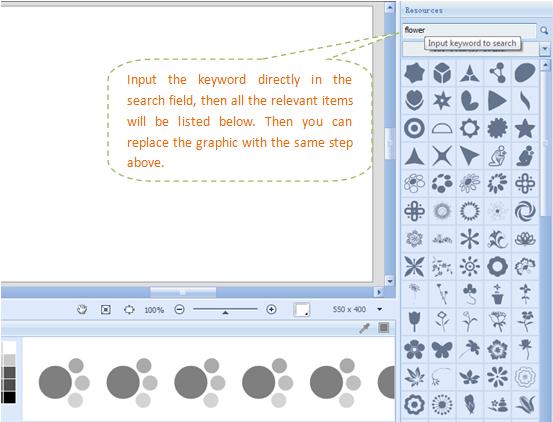 برنامج تصميم الشعارات أصنع اللوجو والتواقيع Input-keyword