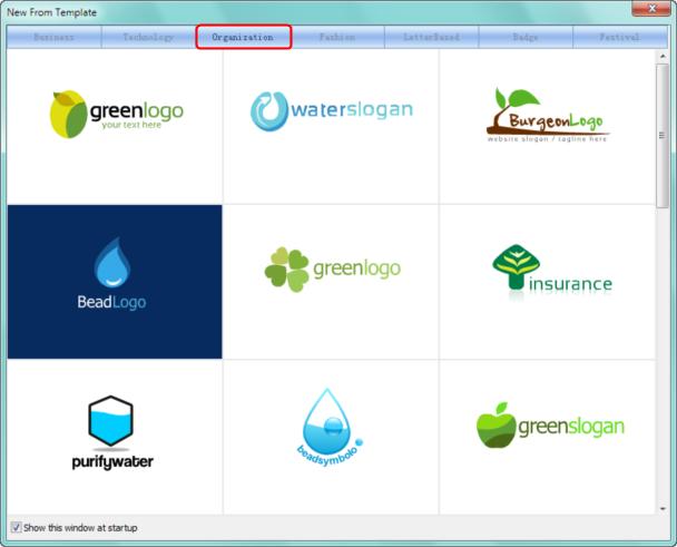 برنامج تصميم الشعارات أصنع اللوجو والتواقيع Template-Organization