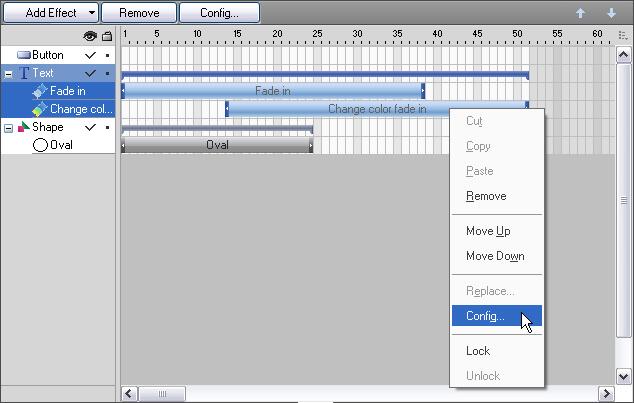Flash Banner Maker Online Help - Timeline
